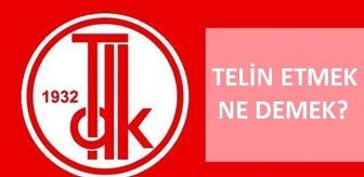 Turk Dil Kurumu: Telin etmek ne demek? TDK telin etmek nedir, ne anlama geliyor? Telin etmek nedir?