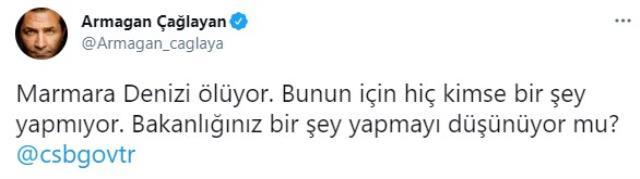 Armağan Çağlayan, Marmara Denizi'nde görülen salyalar için tepki gösterdi: Deniz ölüyor, kimse bir şey yapmıyor