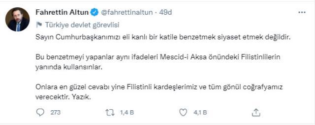 Cumhurbaşkanı Erdoğan'ı Netanyahu'ya benzeten Meral Akşener'e tepki