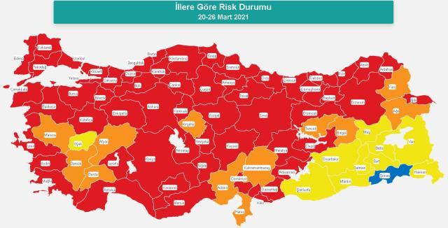 İl il koronavirüs vaka sayıları kaçtır? 8-14 Mayıs İl il güncel koronavirüs risk haritası ve haftalık vaka sayıları açıklandı mı?