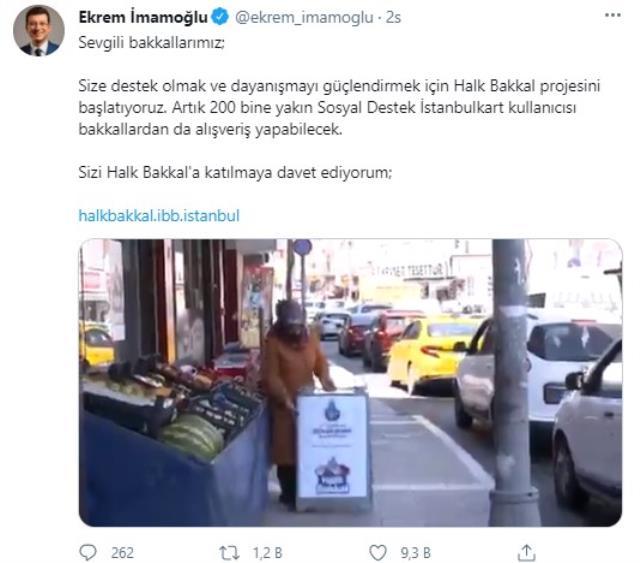 İmamoğlu sosyal medyadan duyurdu: Halk Bakkal projesini hayata geçiriyoruz