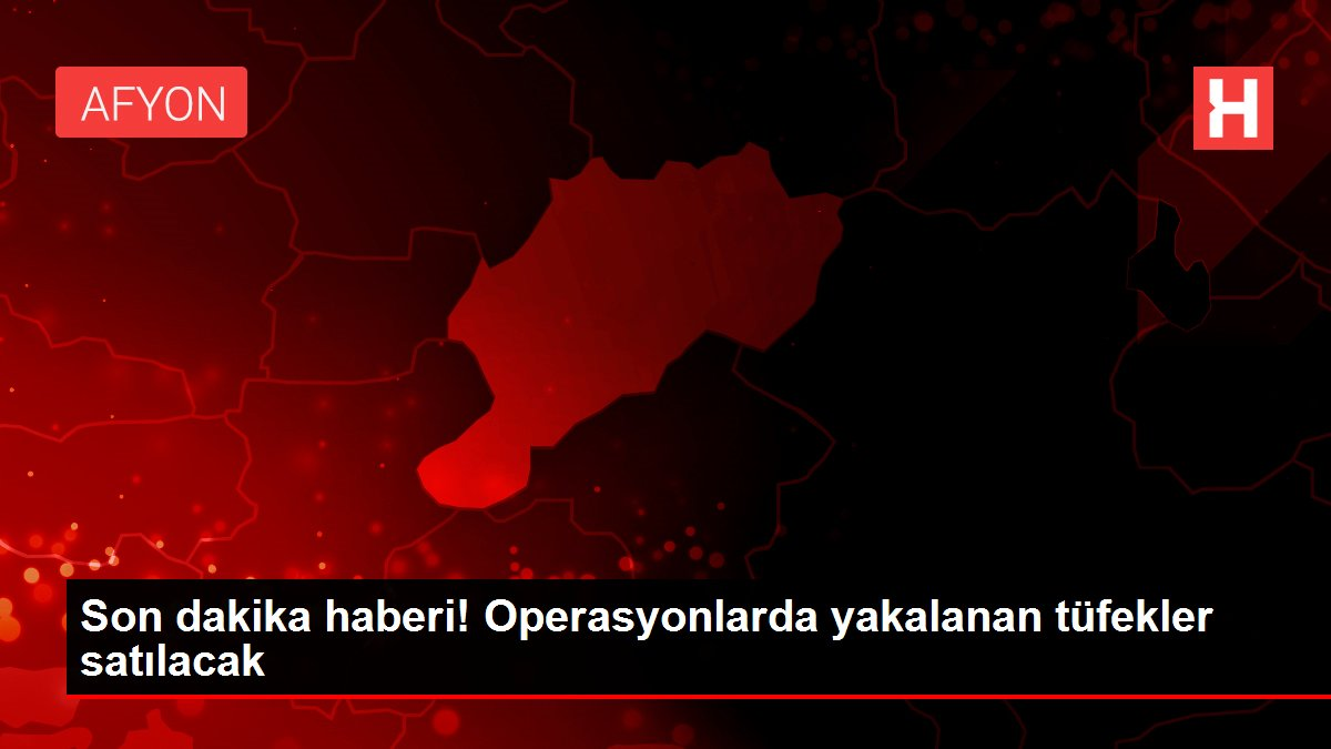operasyonlarda yakalanan tufekler satilacak 14140086 local