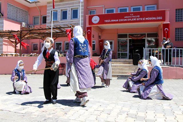 Son dakika! Amasya çocuk yuvasında coşkulu 19 Mayıs kutlaması