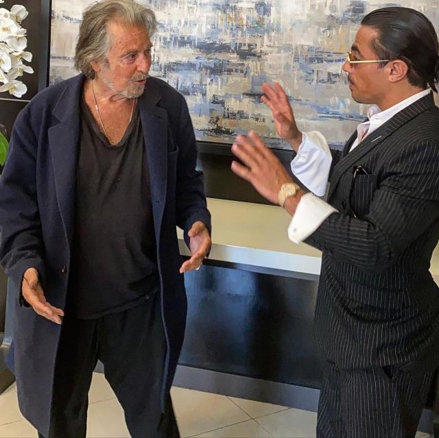 Bir hayalini daha gerçekleştiren Nusret Gökçe, Al Pacino ile buluştu