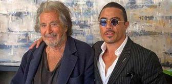 Al Pacino: Bir hayalini daha gerçekleştiren Nusret Gökçe, Al Pacino ile buluştu