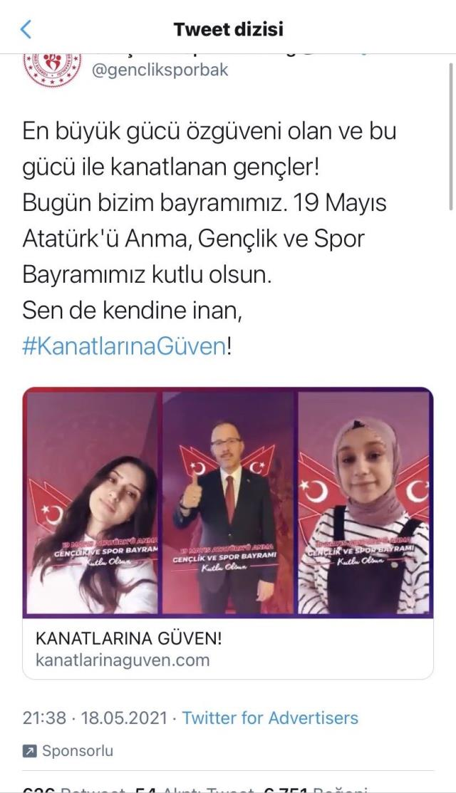 Gençlik ve Spor Bakanlığı'nın yanlış mesajı sosyal medyayı çalkaladı