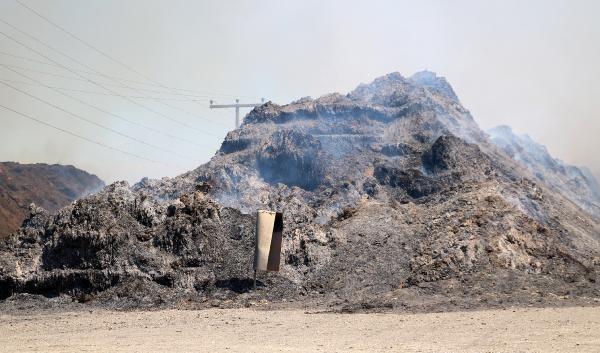 Biyokütle enerji tesisindeki yangın kontrol altına alındı