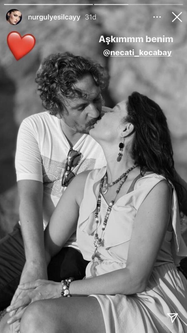 Aşka gelen Nurgül Yeşilçay, sevgilisi öpüşme pozunu paylaştı