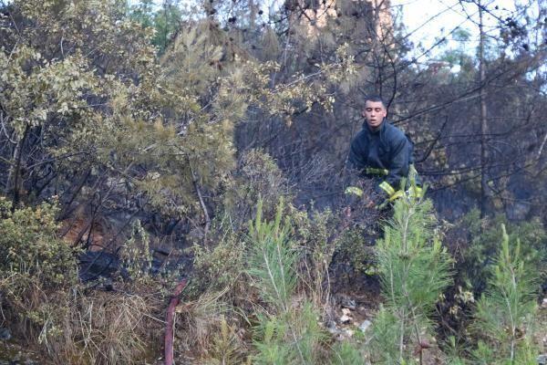 Son dakika haber... Huzurevi yakınında bulunan ormanlık alanda çıkan yangın söndürüldü