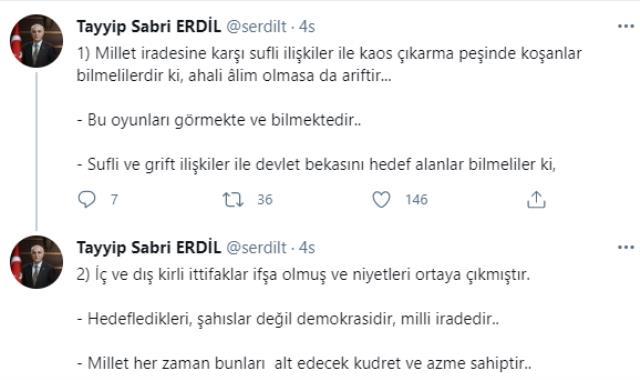 İçişleri Bakan Yardımcısı Erdil'den Sedat Peker'in iddialarıyla ilgili kaos uyarısı! Dikkat çeken sözler