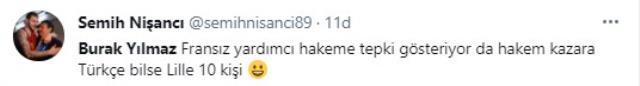 Şampiyonluk maçında Burak Yılmaz'ın yan hakeme Türkçe küfrü sosyal medyaya damga vurdu