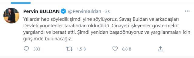 Sedat Peker'in Savaş Buldan'la ilgili iddialarına Pervin Buldan'dan açıklama geldi: Yargılanmaları için girişimde bulunacağız