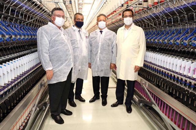 TİM Başkanı'ndan Sanko Tekstil tesislerine ziyaret