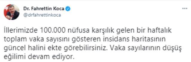 Son Dakika: Bakan Koca, illere göre haftalık vaka sayısını açıkladı! İstanbul dahil 5 ilde ciddi düşüş var