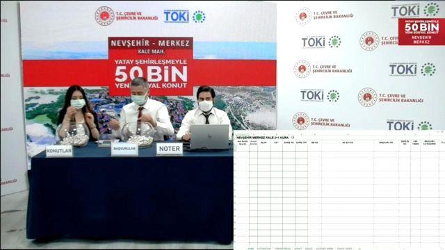 Nevşehir'de TOKİ konutlarının kura çekimi yapıldı