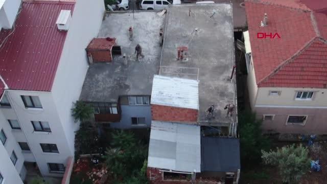 Son dakika haberleri | BURSA NARKOTİK OPERASYONUNDA POLİS, İTFAİYE MERDİVENİYLE TERASA ÇIKARAK ARAMA YAPTI