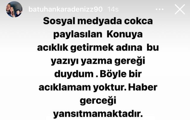 Batuhan Karadeniz'den 'Galatasaray için boş kağıdı imzalarım' dediği yönündeki iddialara yanıt: Böyle bir açıklamam yok