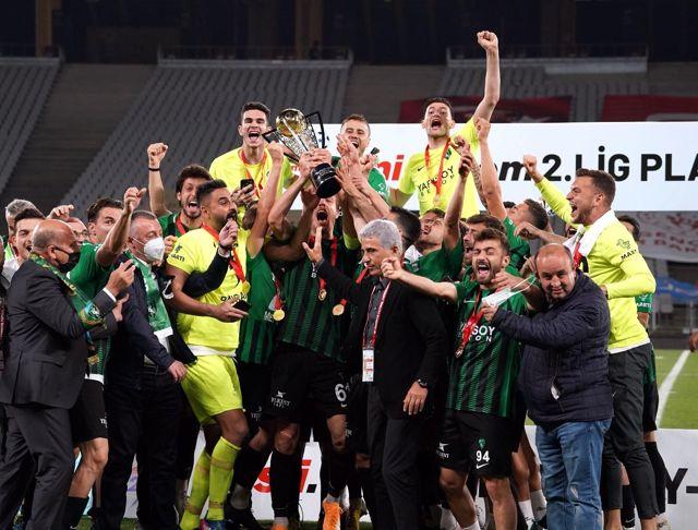 Son dakika haberleri: Kocaelispor, 11 yıl sonra TFF 1. Lig'e yükseldi