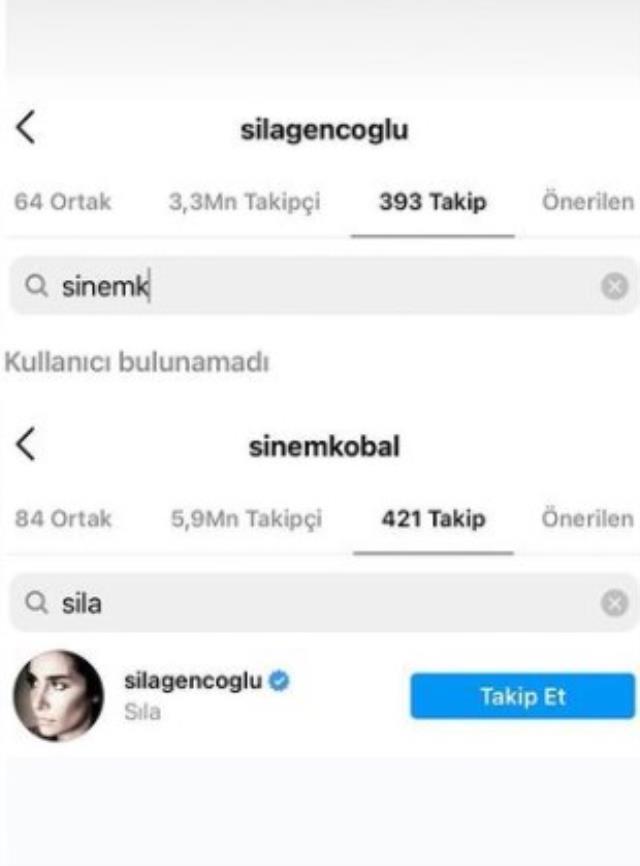 Sıla, Sinem Kobal'ı Instagram'dan sildi! Sebebi ise sevgilisi İlker Kaleli
