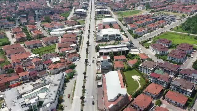 (DRONE) - Cadde ve sokaklarda sessizlik hakim