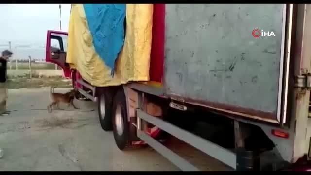 Ev eşyası yüklü kamyondan 175 kilo 500 gram esrar çıktı