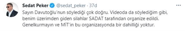 Sedat Peker'in El-Nusra'ya giden silah iddialarına Davutoğlu'ndan çok net yanıt: Benim başbakanlığım sonrası