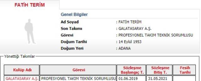 Galatasaray'da Fatih Terim dönemi resmen sona erdi