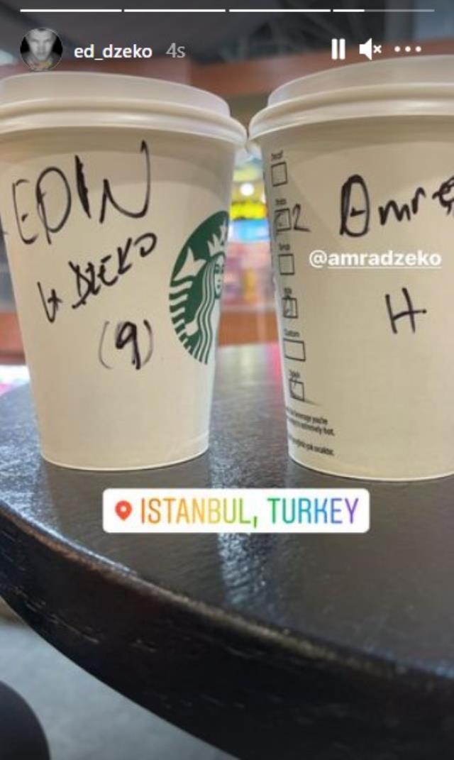 Fenerbahçe'nin gündemindeki dünyaca ünlü golcü Edin Dzeko İstanbul'a geldi