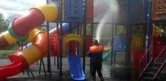 Gediz Belediyesi: Gediz Adnan Menderes Yaşam Parkı'nda dezenfekte çalışması