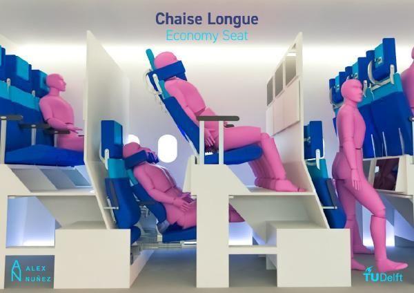 İspanyol öğrencinin uçak koltuğu tasarımı, salgında güvenli seyahati kolaylaştırabilir