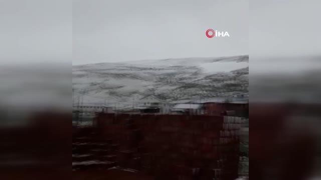 Gümüşhane'ye Haziran ayında kar yağdı