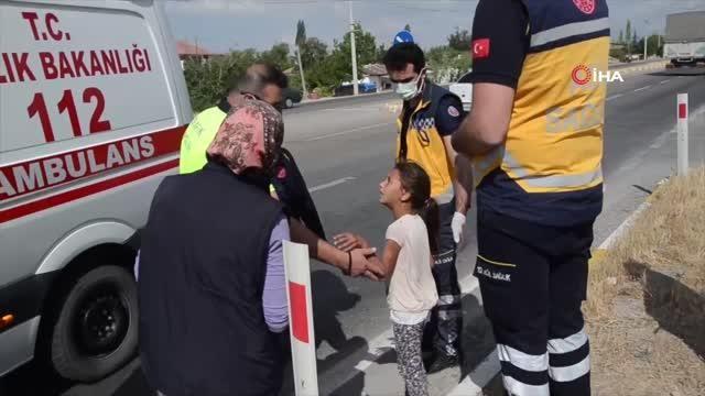 Kazada yaralanan kız çocuğundan ambulansa binmek için ilginç şart: 'Ön koltuğa binerim'