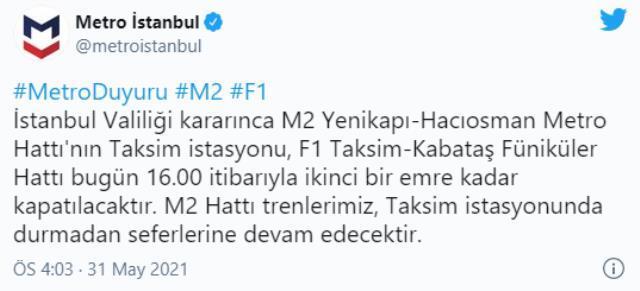 Taksim metro açık mı? Taksim metrosu açıldı mı? Taksim Kabataş Füniküler Hattı neden kapatıldı?