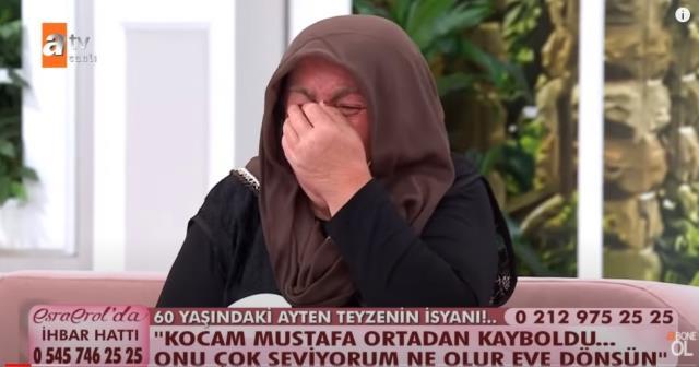 Esra Erol bile şaştı kaldı! 60 yaşındaki kadın, kaçan 39 yaşındaki kocası için canlı yayında gözyaşlarına boğuldu