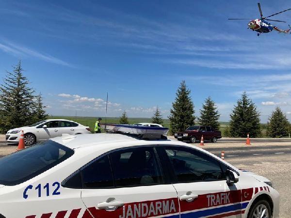 Eskişehir'de helikopter destekli denetimde 21 sürücüye ceza