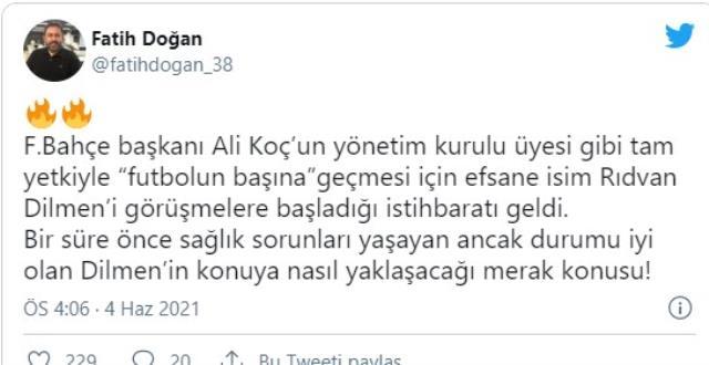 Fenerbahçe'de futbol direktörlüğüne efsane isim geliyor! Ali Koç, Rıdvan Dilmen'e teklif götürdü
