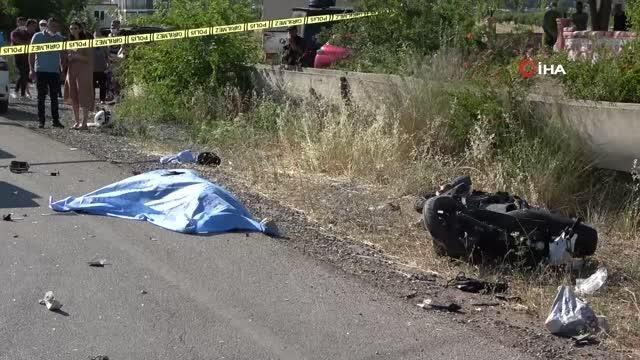 Otomobil ile motosiklet çarpıştı: 1 ölü, 1 ağır yaralı