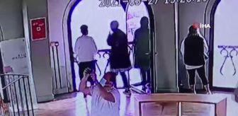 Galata Kulesi: Galata Kulesi'nden atlayan genç kız kamerada