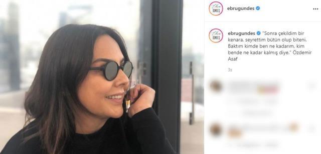 Aldatıldığı iddiaları sonrası boşanan Ebru Gündeş'ten kafaları karıştıran paylaşım