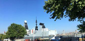 Kız Kulesi: Son dakika haber! İngiliz savaş gemisi Sarayburnu'na demirledi