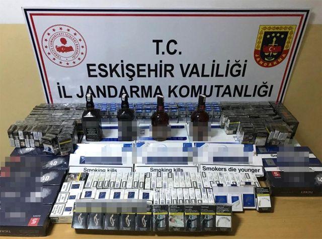 Son dakika haber: Jandarmadan kaçak sigara ve içki operasyonu