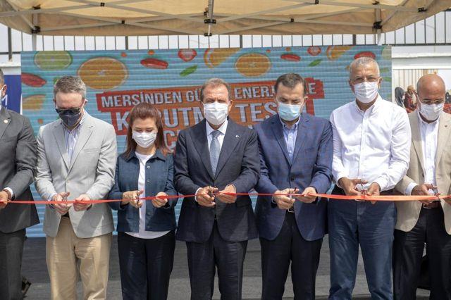Mersin'de 'güneş enerjisi ile kurutma tesisi' hizmete girdi