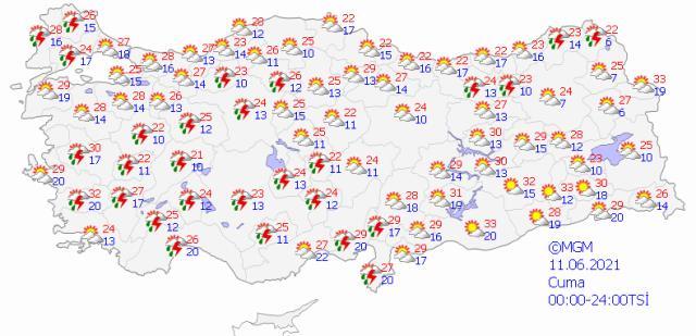 Meteoroloji bölge bölge uyardı! Şemsiyeleri yanınıza almayı unutmayın, sağanak yağış geliyor