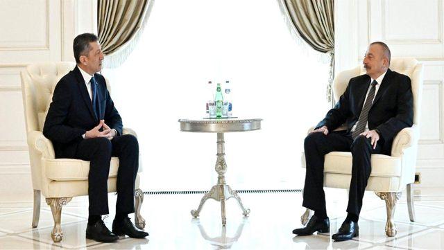 Millî Eğitim Bakanı Selçuk, Azerbaycan Cumhurbaşkanı Aliyev'i Ziyaret Etti