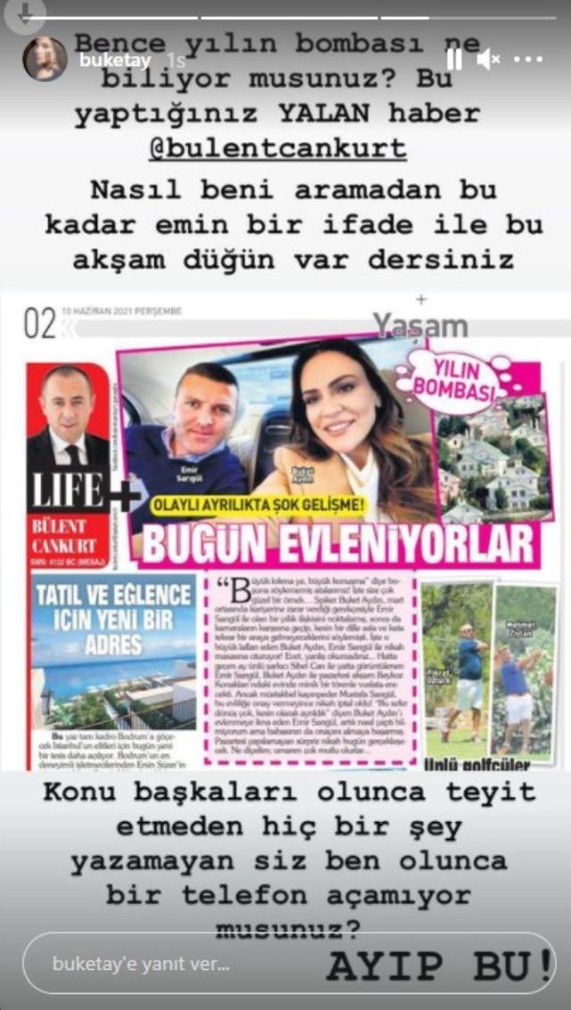 Sunucu Buket Aydın, Emir Sarıgül ile evleneceği iddiasını yalanladı
