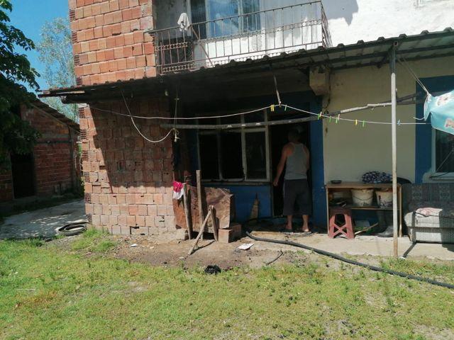 Çarşamba ilçesinde yangın çıkan evde hasar oluştu