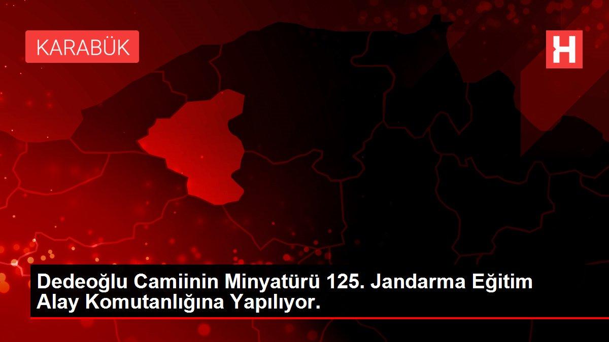 Dedeoğlu Camiinin Minyatürü 125. Jandarma Eğitim Alay Komutanlığına Yapılıyor.
