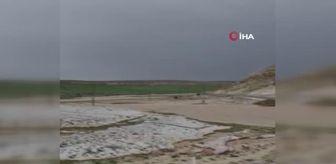 Örenşehir: Son dakika... Dolu ve sel Kayseri'de tarım arazilerini etkiledi