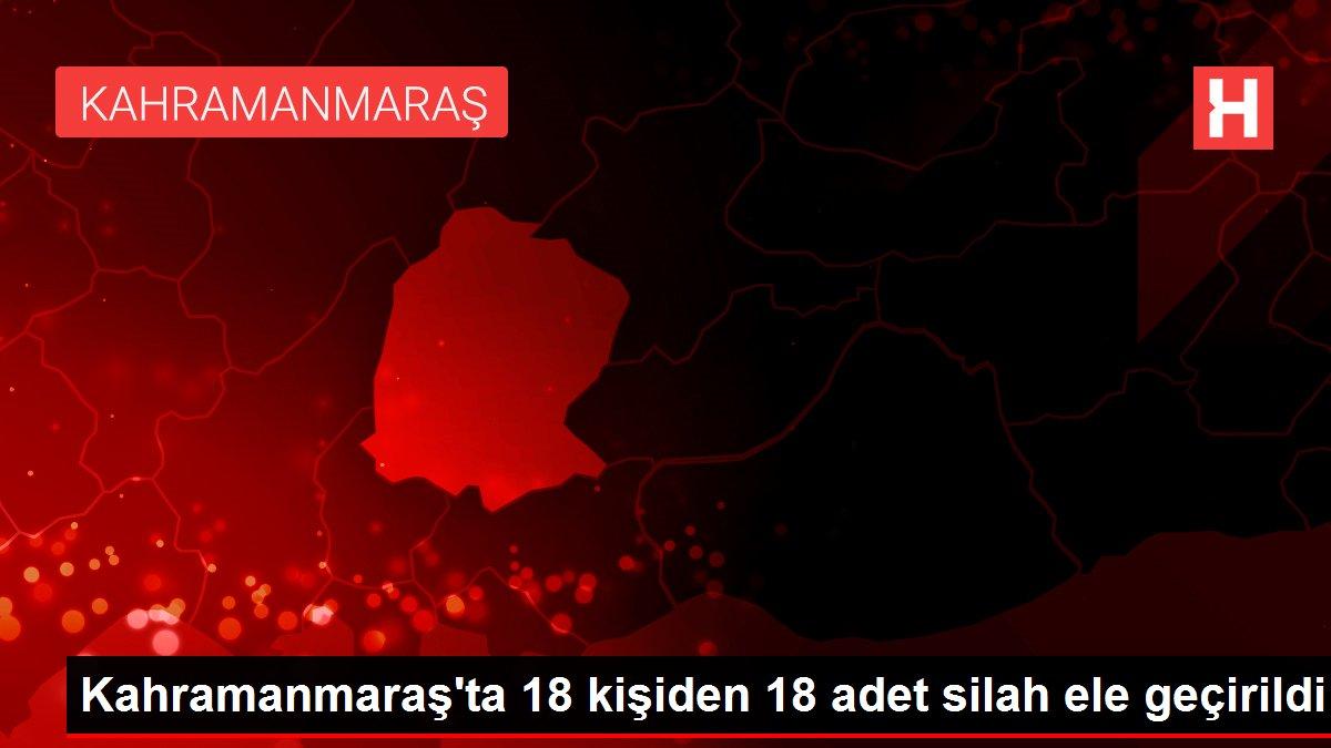 Kahramanmaraş'ta 18 kişiden 18 adet silah ele geçirildi