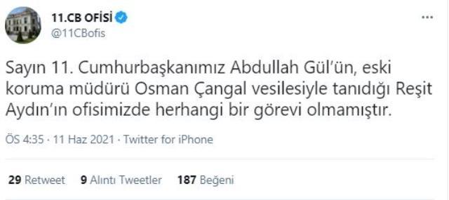 Abdullah Gül'ün danışmanı olduğunu iddia eden Reşit Aydın : 'İhanete dayanamadım'